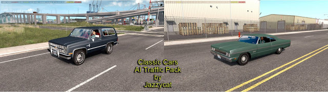 ats classic cars ai traffic pack v3.6 by jazzycat screenshot, new classic cars with v3.6, Plymouth Fury '69, Chevrolet K5 Blazer '86