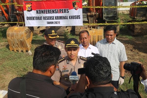 Polda Aceh Hentikan Operasional Penambangan Emas Tanpa Izin