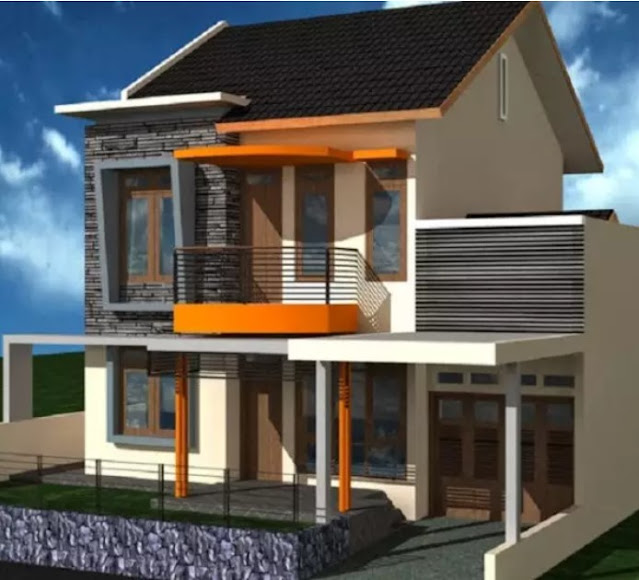 simple 2nd floor house front design