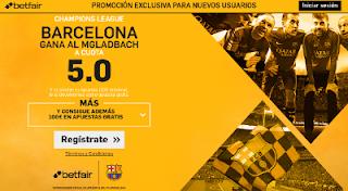 betfair supercuota 5 Barcelona gana B. Mgladbach champions 28 septiembre