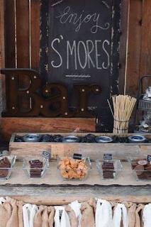 bar à smores et marshmallows mariage blog mariage www.unjourmonprinceviendra26.com