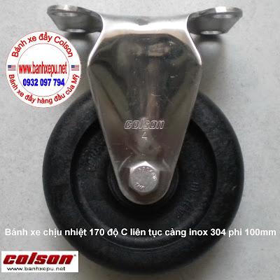Bánh xe đẩy hàng chịu nhiệt thermo càng inox 304 Colson | 2-4408-53HT www.banhxeday.xyz
