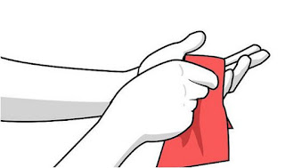 Remove adhesive from your hand better use cloth