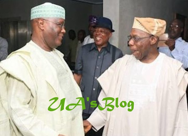 PHOTOs: Obasanjo Receives Atiku in Abeokuta