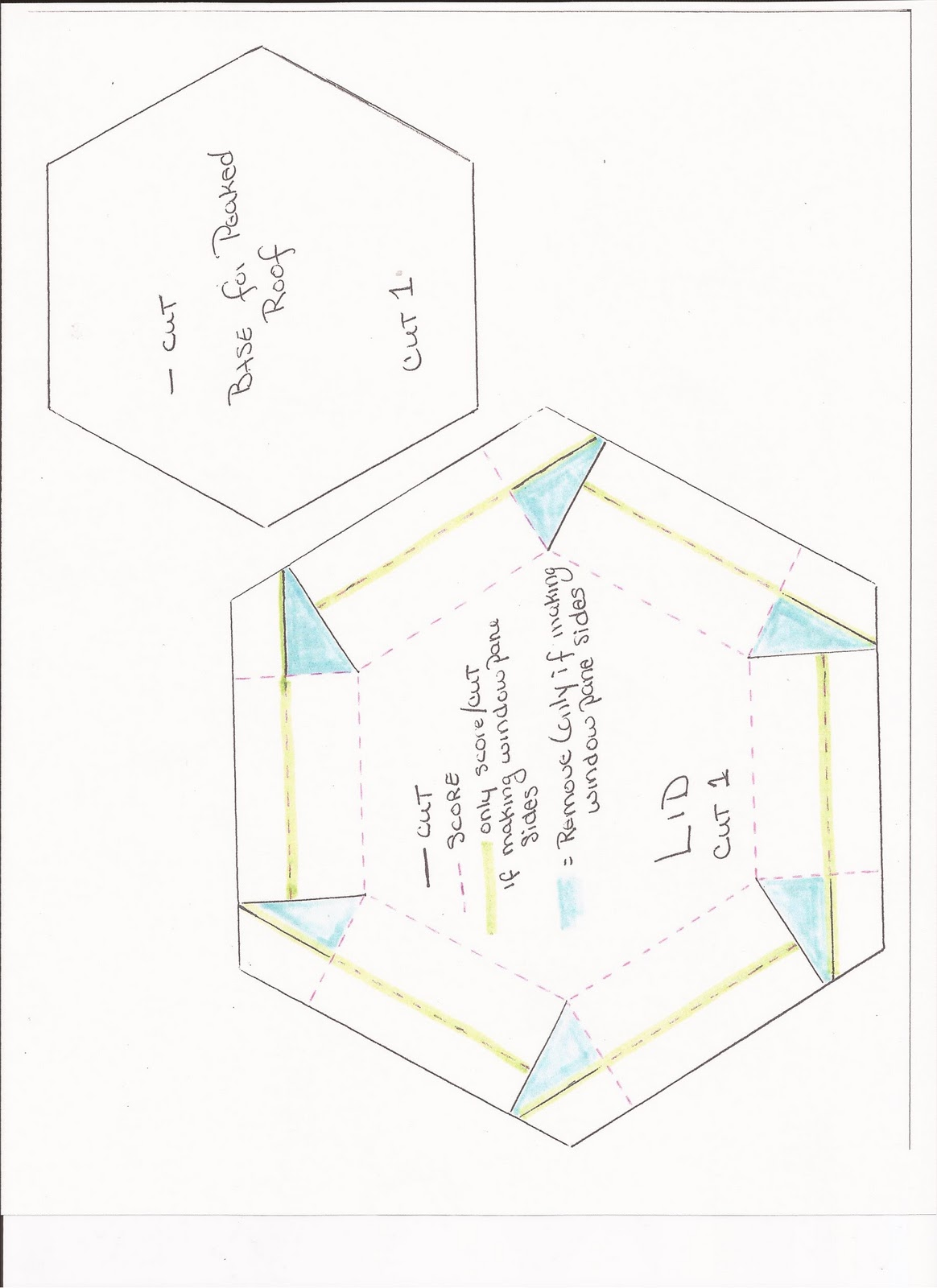 Mom And Me Playin With Paper Hexagon Gazebo Box Template