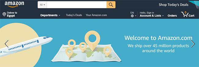 أشهر مواقع التجارة الالكترونية العالمية، موقع أمازون، Amazon
