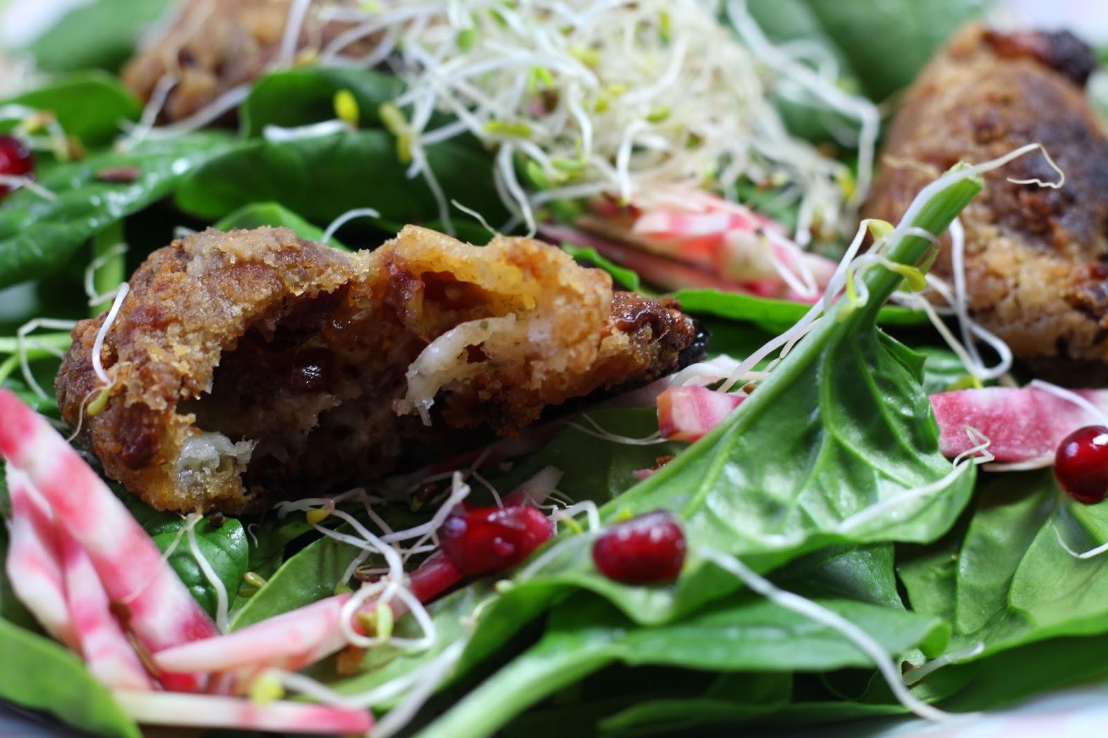 Salade festive mozzarella cranberry