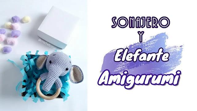 APRENDE A TEJER GRATIS Sonajero de Elefante a Crochet