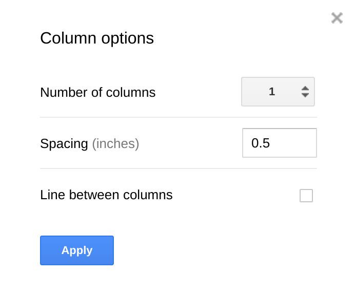 The Electric Educator OMG Google Docs Has Columns - Google docs columns