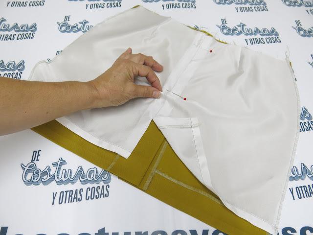 como forrar una falda