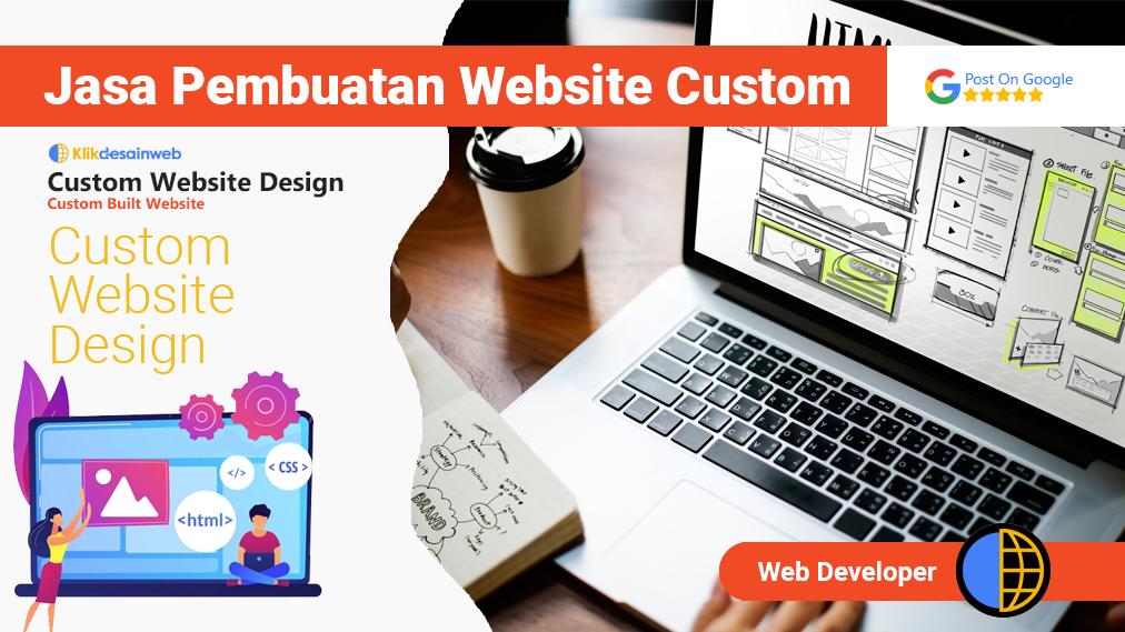 website custom,custom web design,jasa pembuatan website custom
