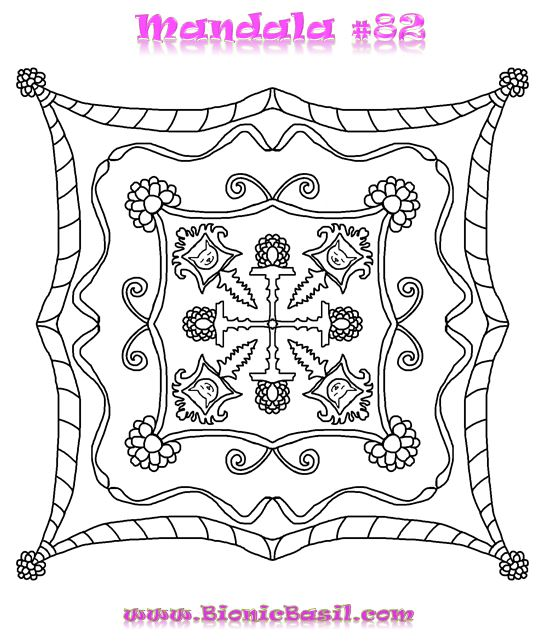 Mandalas on Monday #82 BionicBasil®  Colouring With Cats Downloadable Picture 18-3-19