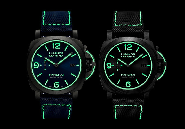 Panerai Luminor Marina PAM01117 and Luminor Marina Carbotech PAM01118