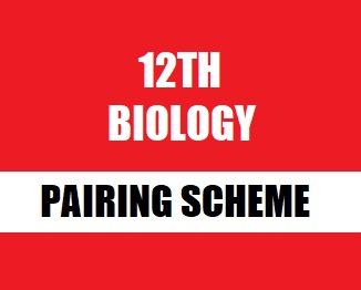 12th (Inter Part-2) Biology Pairing Scheme 2019-20