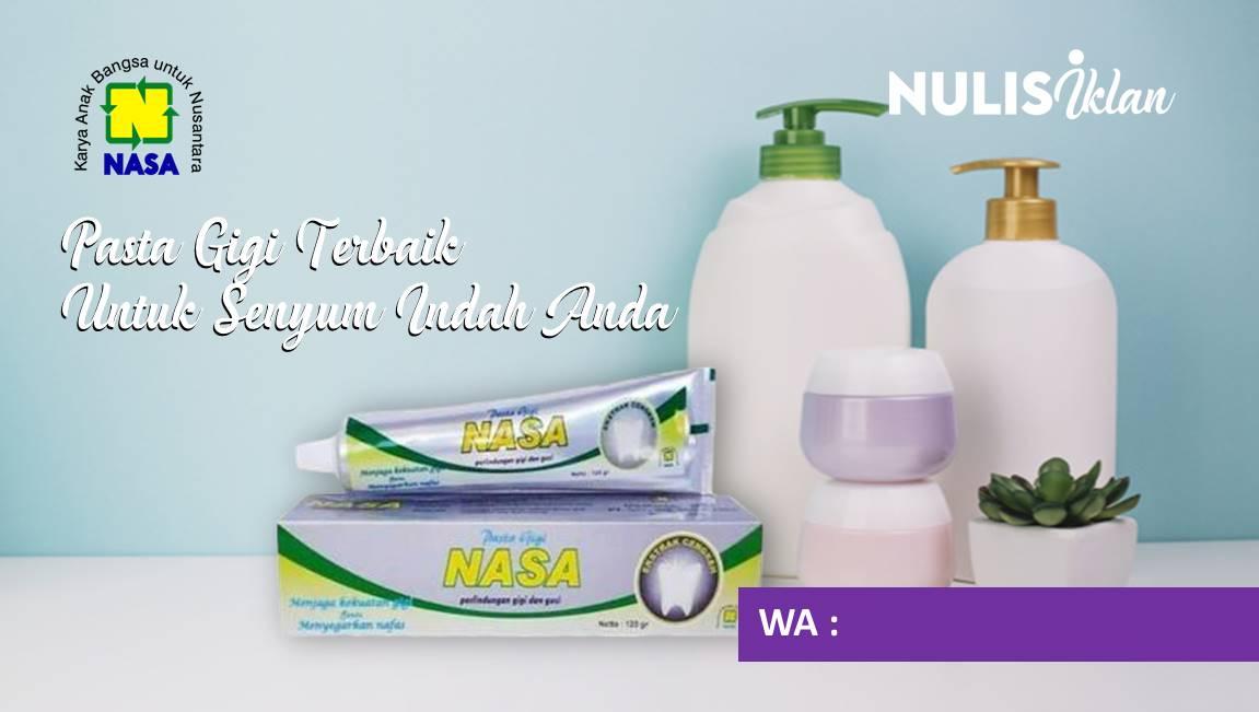 contoh iklan pasta gigi nasa