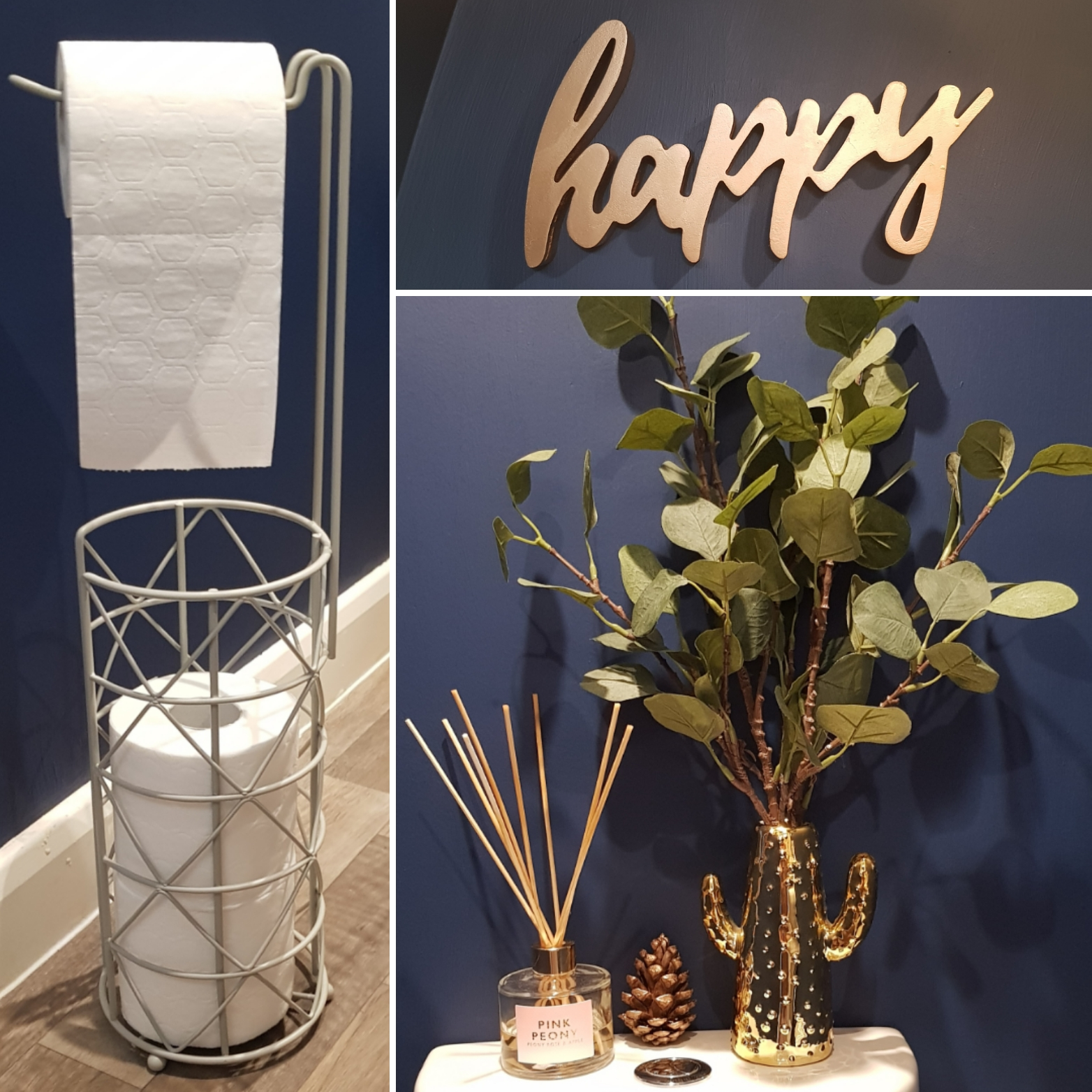 Budget Room Makeover: Toilet roll, Cactus & Happy sign
