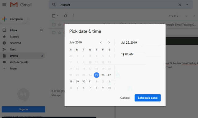 how to schedule an email in gmail-set-time