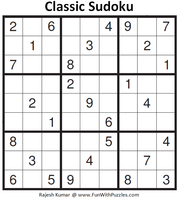 Classic Sudoku (Fun With Sudoku #162)