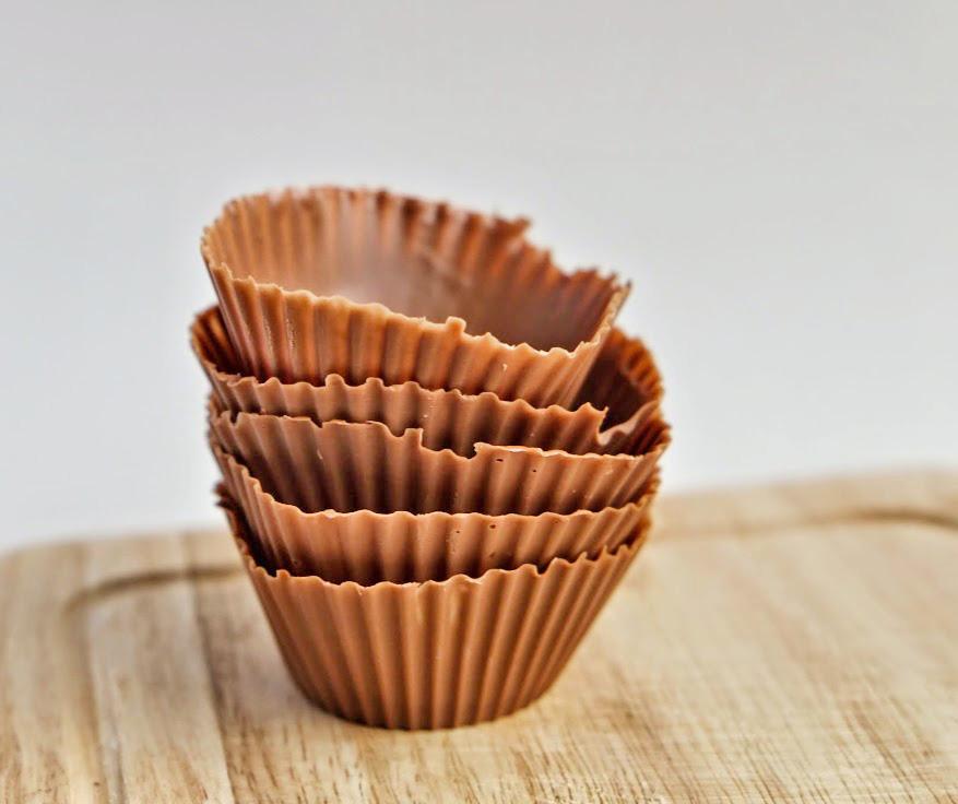 Schaaltje van chocolade