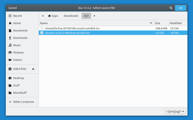 Ubuntu file chooser
