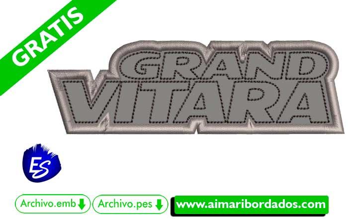 Logo Grand Vitara Para Bordar