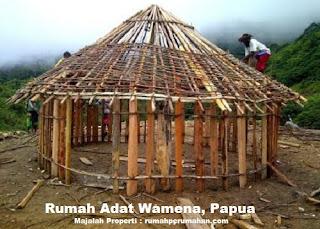 Desain Bentuk Rumah Adat Wamena dan Penjelasannya, Struktur Rumah Adat Papua