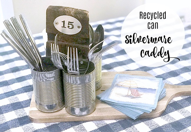 Recycled Can Summer Picnic Caddie