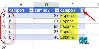 VBA: Recorrer solo los elementos filtrado de una tabla