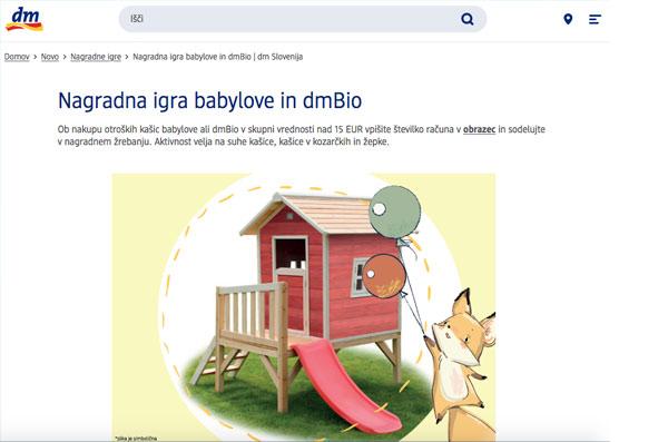 Nagradna igra babylove in dmBio