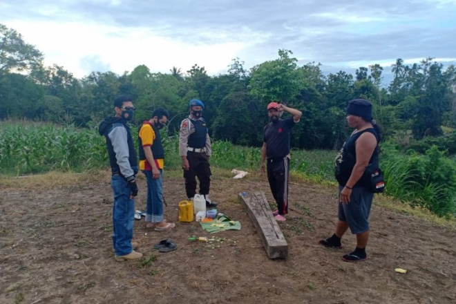 Pesta Ballo di Kebun, Warga Ajangale Diamankan Polisi
