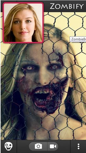 zombiebooth 2 best free android app to scare your friends people on halloween