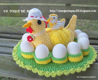 Un toque de mercy gallina de crochet aqui muestro - Manualidades a crochet paso a paso ...