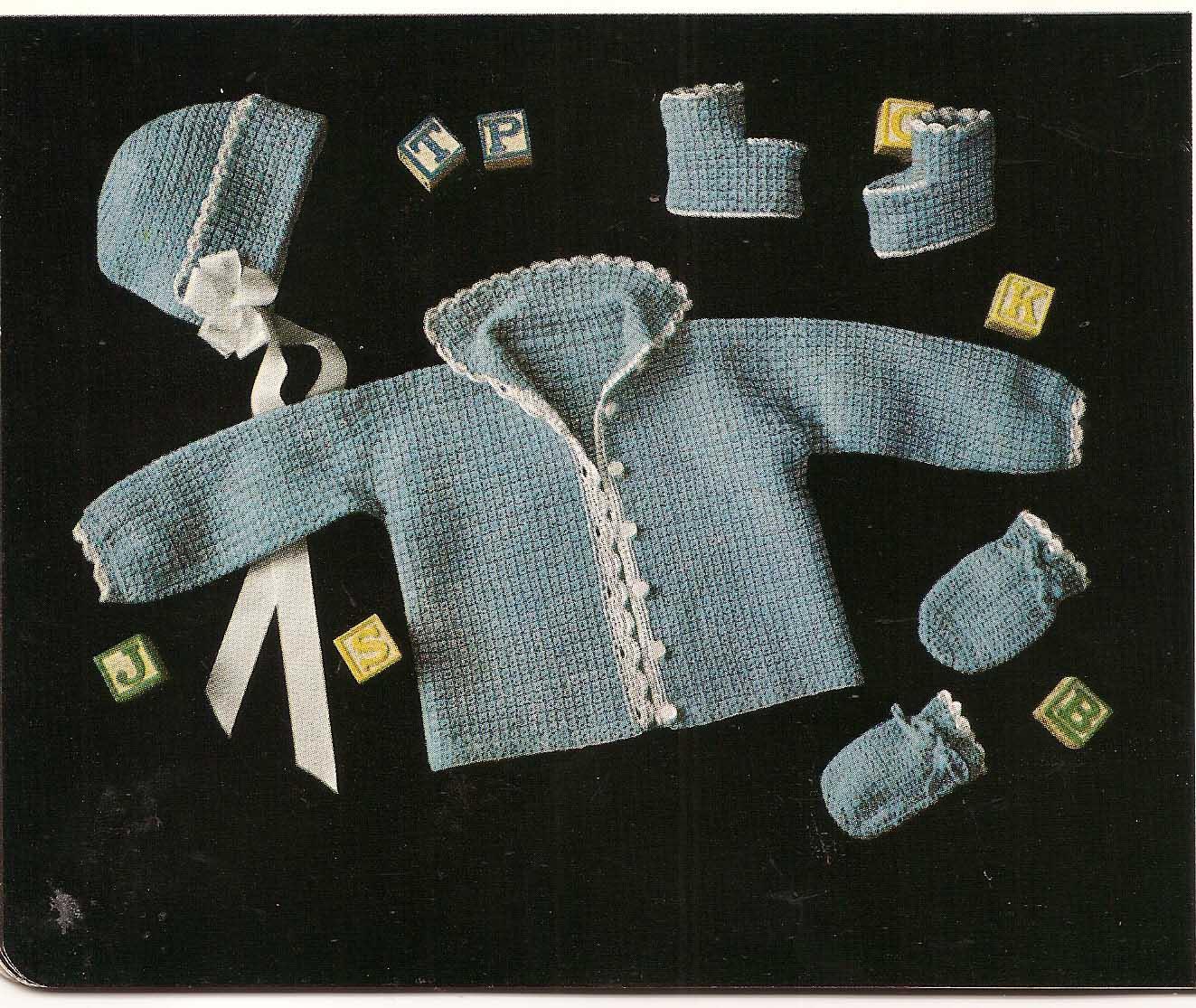 Newborn Layette Crochet Pattern Easy Crochet Patterns