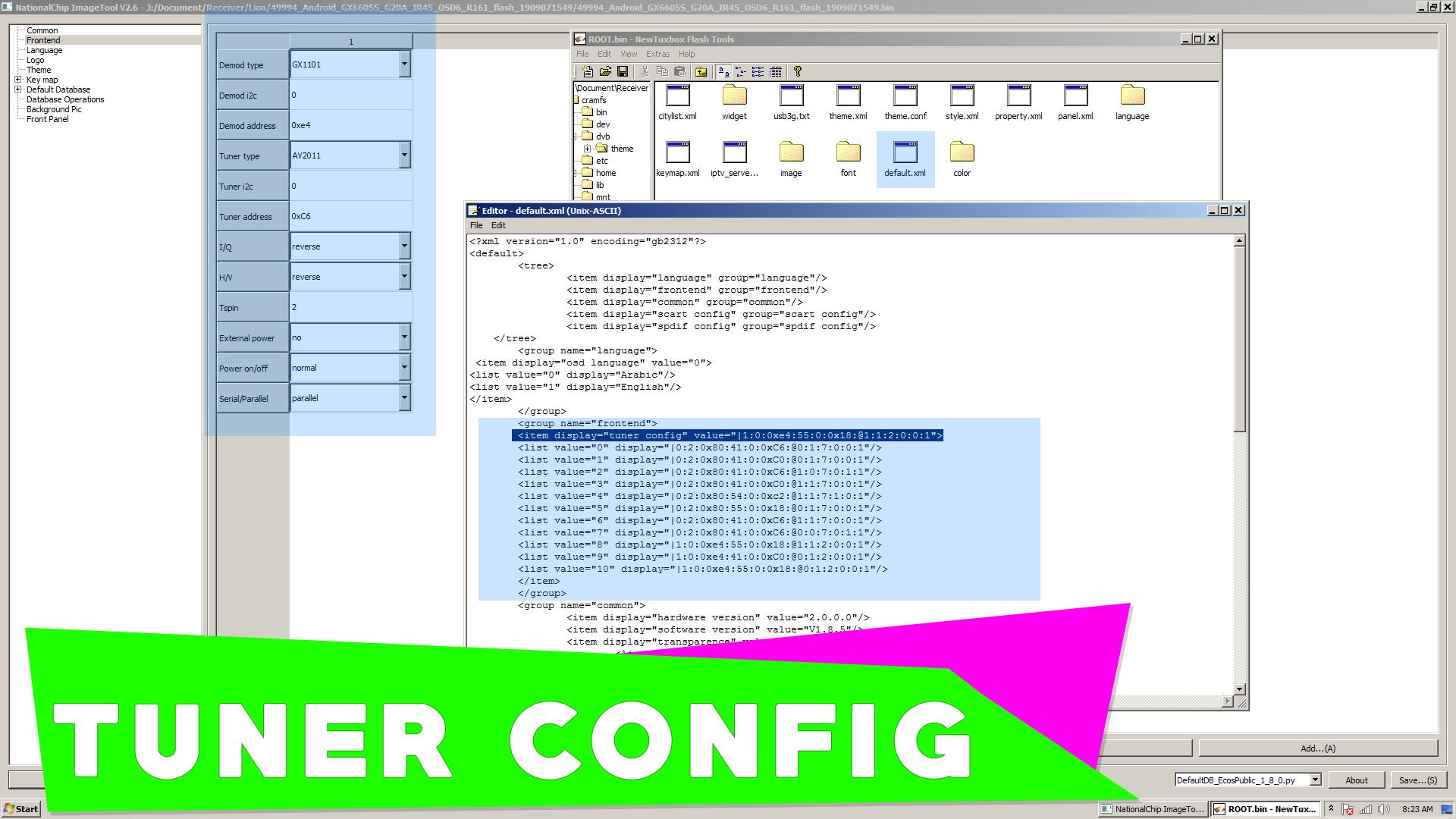 Cara Edit Firmware Receiver Parabola Tuner Config GuoXin