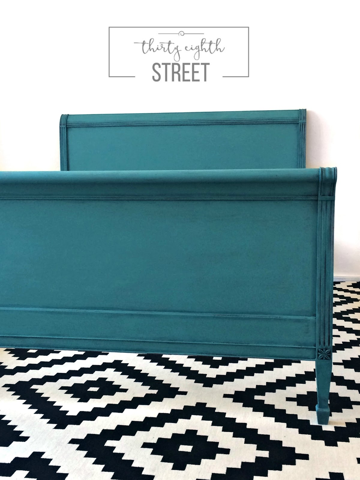 Distressing Furniture, How To Distress Furniture, Turquoise Bed, How To  Update Old Furniture