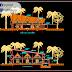مخطط واجهة لقاعة احتفالات اوتوكاد dwg