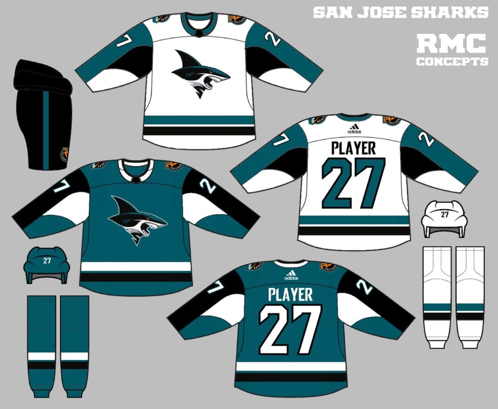 The Sharks  new secondary logos are proving to be quite popular with  concept artists 3141a5756