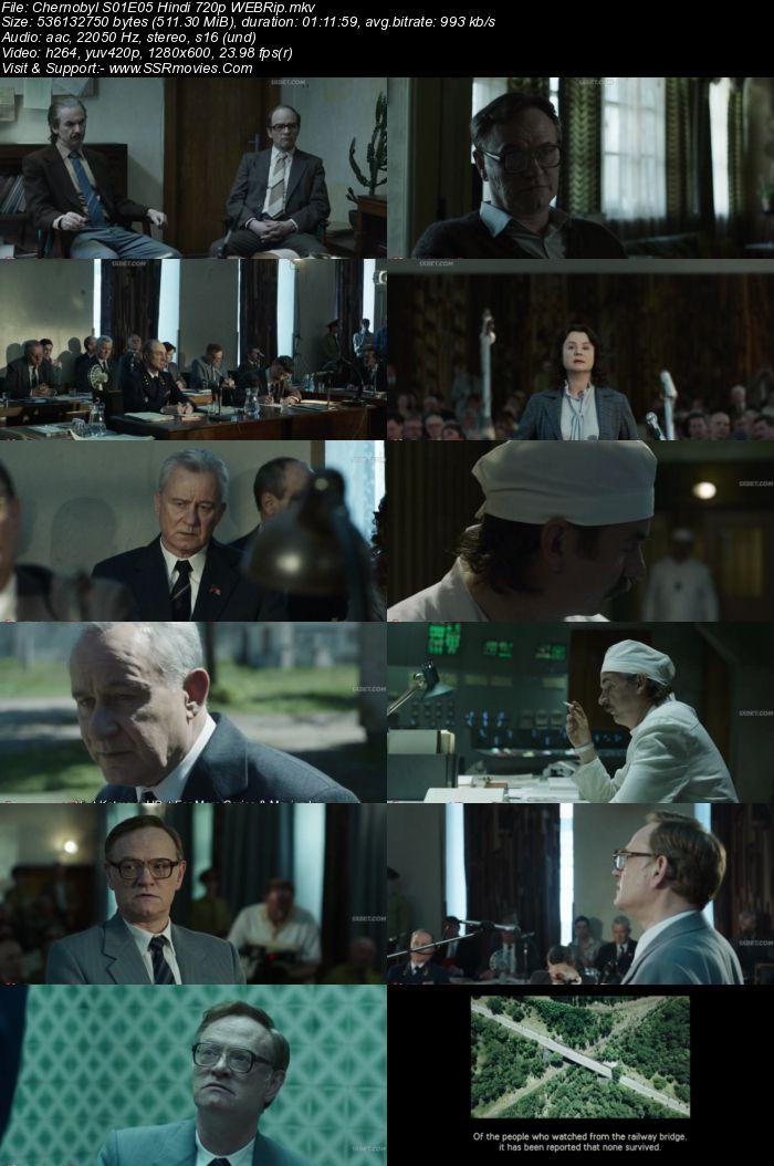 Chernobyl 2019 Hindi S01 Complete 720p 480p WEBRip 2.3GB Download