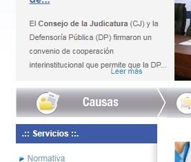 BOTON CAUSAS CONSEJO DE LA JUDICATURA
