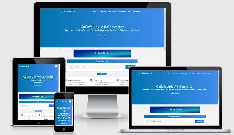 Casafelink v6 Safelink Blogger Template