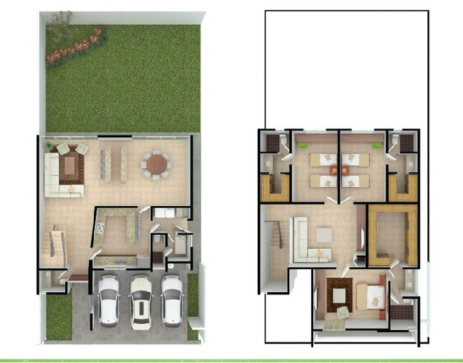 Planos de casas y plantas arquitect nicas de casas y for Casa minimalista 2 plantas