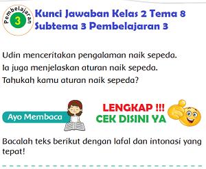 Kunci Jawaban Kelas 2 Tema 8 Subtema 3 Pembelajaran 3 www.simplenews.me