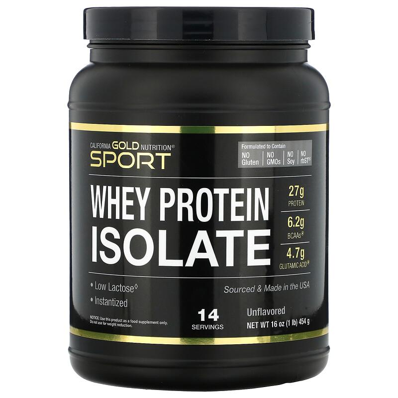 California Gold Nutrition, SPORT, изолят сывороточного протеина, 454 г (16 унций)