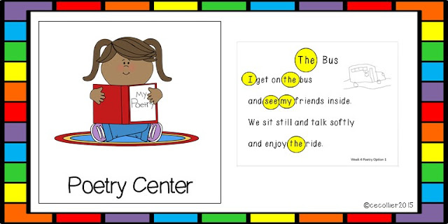 Centers or Literacy Work Stations start early in our kindergarten classes. We have 5 groups doing 2 centers a day.