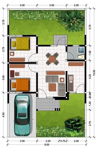 Rumah Type 45: Pengertian, Denah, Harga img by pinterest