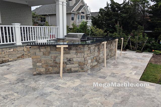 Outdoor kitchens granite countertop bbq