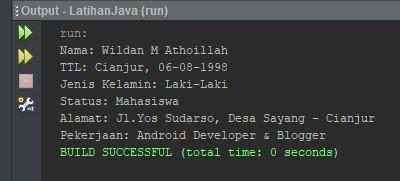 Screenshot output dari data contohFile txt