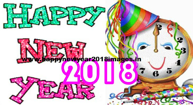 happy new year 2018 clipart black and white