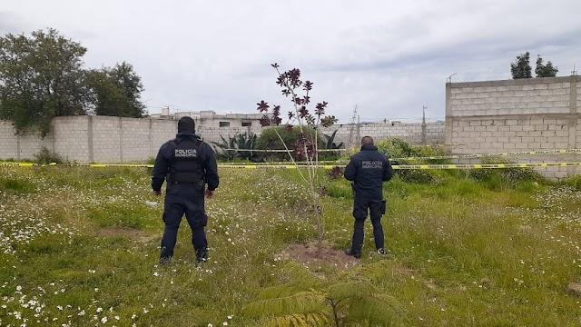 Policía Municipal de Huamantla atiende reporte de localización de femenina sin vida.