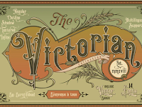 Victorian Fonts Collection ( OTF, TTF, WOFF, SVG )